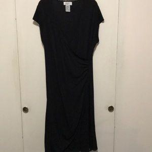 Nine West black jersey dress